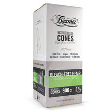 Beamer Bleach-Free Hemp 1 1/4 Size Pre-rolled Cones - 900ct Bulk Box
