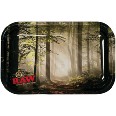 """Raw Small Metal Rolling Tray, Forest Design - 11"""" x 7"""""""