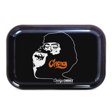 "Tommy Chong Medium Metal Rolling Tray, Smoking Chong Design - 10.75"" x 6.25"""