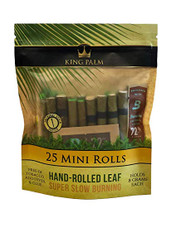 King Palm Mini Size Hand-Rolled Palm Leaf  - 25-Ct Pack