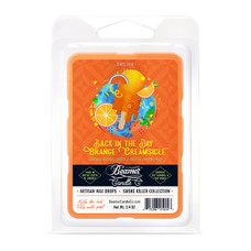 Beamer Candle Co. Smoke Killer Collection 2.4oz Wax Drops - 6-Count Pack - Back in the Day Orange Creamsicle Scent