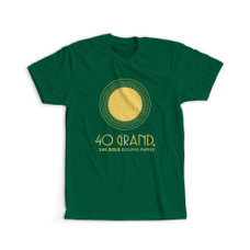 40 Grand Logo Design T-Shirt - Green Color