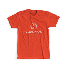 Bake Sale Logo Design T-Shirt - Red Color