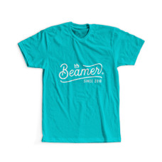 Beamer Crown Logo Design T-Shirt - Teal Color