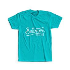 Beamer Crown Logo Design T-Shirt - Teal Color