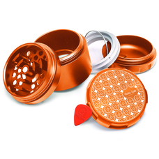 Bake Sale 4-Piece 63mm Aluminum Herb Grinder - Donut Pattern Design