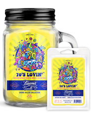 70's Lovin 12oz Smoke Killer Collection Candle & Wax Drop Bundle