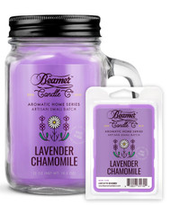 Lavender Chamomile 12oz Aromatic Home Series Candle & Wax Drop Bundle