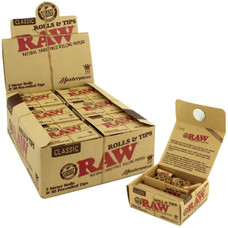 Raw Masterpiece King Size Rolling Paper Roll with Pre-Rolled Tips