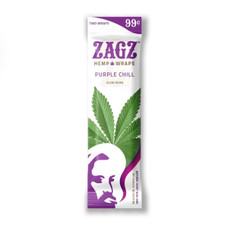 Zig Zag Zagz Natural Hemp Wraps, Purple Chill Flavor - 2-Count Packs