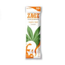 Zig Zag Zagz Natural Hemp Wraps, Tropic Trip Flavor - 2-Count Packs