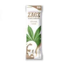 Zig Zag Zagz Natural Hemp Wraps, Original Flavor - 2-Count Packs