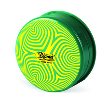 Beamer 3-Piece Acrylic Grinder - Psychedelic Green