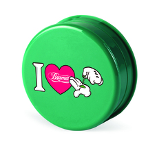 Beamer 3-Piece Acrylic Grinder - iHeart Green