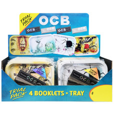 OCB Trial Pack - Small Rolling Tray with Premium and X-Pert King Size Slim Rolling Papers