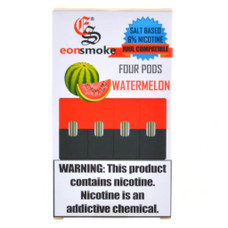 EonSmoke Juul Compatible Pods 4-Count Pack, 6% Nicotine Strength - Watermelon Flavor