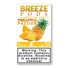Breeze Pods Juul Compatible 1.0ml Pod, 6% Nicotine Strength - Pineapple Passion Flavor