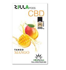 Hempzilla Juul Compatible Pods 4-Count Pack 300mg CBD - Tango Mango Flavor