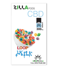Hempzilla Juul Compatible Pods 4-Count Pack 300mg CBD - Loop Milk Flavor