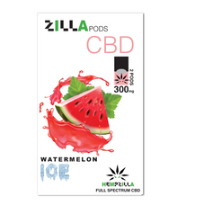Hempzilla Juul Compatible Pod 300mg CBD - Watermelon Ice Flavor
