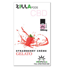 Hempzilla Juul Compatible Pods 4-Count Pack 300mg CBD - Strawberry Creme Flavor