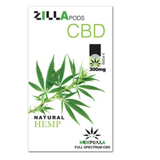 Hempzilla Juul Compatible Pods 4-Count Pack 300mg CBD - Natural Hemp Flavor