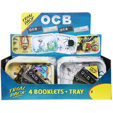 OCB Trial Pack - Small Rolling Tray with Premium and X-Pert 1 1/4 Size Rolling Papers