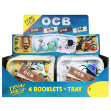 OCB Trial Pack - Small Rolling Tray with Organic Hemp and Virgin King Size Slim Rolling Papers