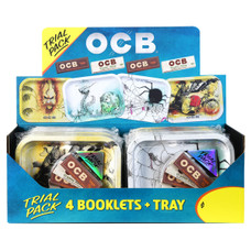 OCB Trial Pack - Small Rolling Tray with Organic Hemp and Virgin 1 1/4 Size Rolling Papers