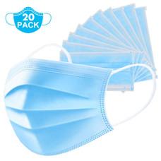 Non-Woven 3Ply Design Disposable Face Mask - 20 Pack