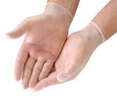Clear Synthetic Vinyl Latex-Free Powder-Free Disposable Gloves 100-Ct Box - Medium