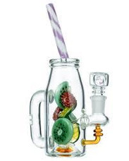 "6"" Glass Tropical Drink Bong  - 14mm Female Joint"