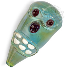 "4"" Glass Zombie Head Handpipe"
