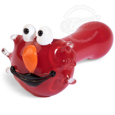 "4.5"" Glass Red Puppet Handpipe"