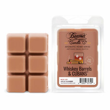Beamer Candle Co. Aromatic Home Series 2.4oz Wax Drops - 6-Count Pack - Whiskey Barrels & Cubans Scent