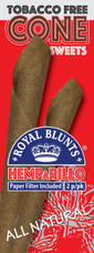 Royal Blunts Hemparillo Hemp Cones - Sweet Flavor 2 Count Pack