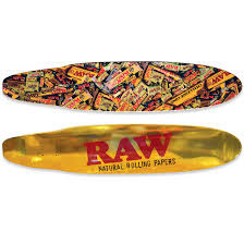 Raw Gold Foil Retro Ducktail Design Longboard Deck