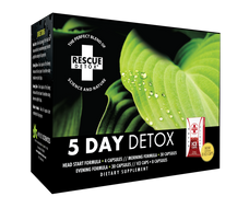 Rescue Detox 5 Day Permanent Detox (4 Different Capsules and 8 Bonus Ice Capsules) - 76 Total Capsules