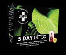 Rescue Detox 5 Day Permanent Detox (4 Different Capsules and 8 Bonus Ice Capsules) - 76 Total Capsules