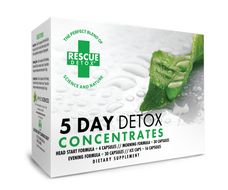 Rescue Detox 5 Day Concentrate Kit (4 Different Capsules and 16 Bonus Ice Capsules) - 84 Total Capsules