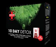 Rescue Detox 10 Day Permanent Detox (4 Different Capsules and 8 Bonus Ice Capsules) - 152 Total Capsules