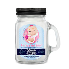 Beamer Smoke Killer Collection 4oz Mini Candle - Fresh Like A Baby's Behind Scent