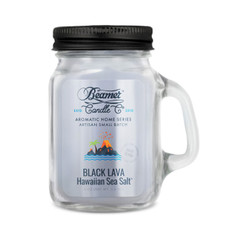 Beamer Aromatic Home Series 4oz Mini Candle - Black Lava Hawaiian Sea Salt Scent