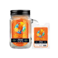 Back in the Day Orange Creamsicle 12oz Smoke Killer Collection Candle & Wax Drop Bundle