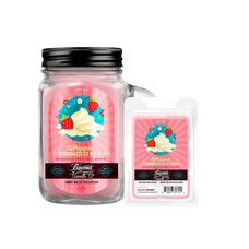 Whipped Strawdazzles N Cream 12oz Smoke Killer Collection Candle & Wax Drop Bundle