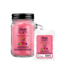Aunt Suzie's Raspberry Lemonade 12oz Aromatic Home Series Candle & Wax Drop Bundle