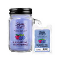Blueberries Smell Like Raspberries 12oz Aromatic Home Series Candle & Wax Drop Bundle