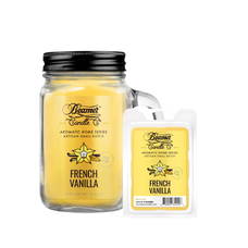French Vanilla 12oz Aromatic Home Series Candle & Wax Drop Bundle