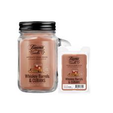Whiskey Barrels & Cubans 12oz Aromatic Home Series Candle & Wax Drop Bundle