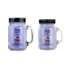 Angelina's Blueberry Pie 12oz & Mini 4oz Aromatic Home Series Candle Bundle